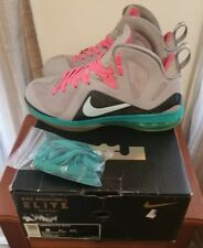 Nike Lebron 9 IX Elite South Beach Sz 8 miami nights vice cork low champ