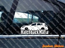 Lowered HATCHBACK MAFIA sticker - for Mazda 3 Mazdaspeed MZR (2010-2013)