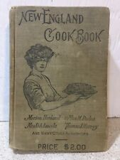 New England Cook Book - 1906 American Cooking Housekeeping - Boston, Mass