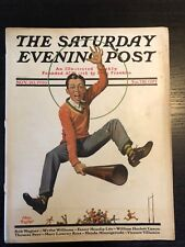 Saturday Evening Post  Nov 20, 1926   Male Cheerleader Cover Art by: Alan Foster