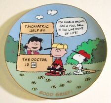 "Danbury Mint Peanuts ""Good Grief"" Charlie Brown Gold Trimmed Collector Plate"