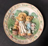 Cherished Teddies Jack & Jill Plate 1994 Vintage 114901 Nursery Rhymes Enesco