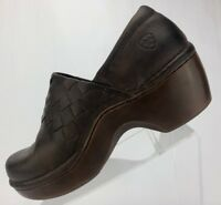 Ariat Clogs - Brown Leather Nursing Casual Comfort Slip On Women's Size 9.5 B