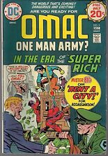 """OMAC ONE MAN ARMY #2 DC 12/74 MISTER BIG """"RENT A CITY!"""" JACK KIRBY CLASSIC FN+"""