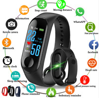 Smart Band Watch Bracelet Wristband Fitness Tracker Blood Pressure HeartRate M3s