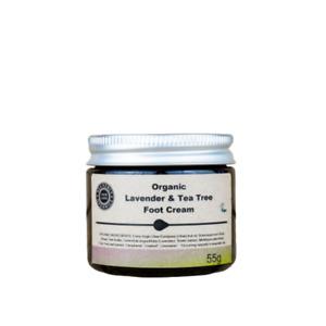 Heavenly Organics 100% Natural Lavender & Tea Tree Foot Cream Vegan/Eco Friendly