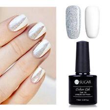 2pcs 7.5ML White Glitter Gel Nail Polish LED/UV Lamp Gel Nails Varnish Soak Off