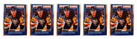 (5) 1992 Sports Cards #34 Kevin Stevens Hockey Card Lot Pittsburgh Penguins