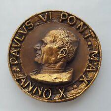 Vatican Art. Medal Paulus VI Pont • Max • Anno X, 45 mm, 53 gr