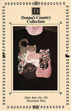 """Donna's Country Collection Sewing Craft Applique Pattern 516 """"Kitty Kats"""""""
