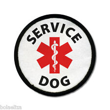 Service Dog ADA Animal Medical Alert 2.5 inch Black Rim Sew-on Patch Badge