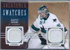 2014-15 Upper Deck Artifacts Hockey Antti Niemi Dual GU Jersey Swatches Sharks
