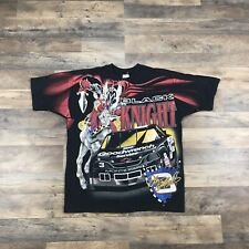 Vintage 90s Dale Earnhardt Sr Nascar T-Shirt #3 Mens Large Black Knight 2 Sided