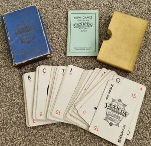 VINTAGE WADDINGTONS LEXICON CARD GAME THE GAME OF SKILL EXCITEMENT & INTEREST #2