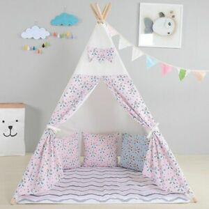 Children's Teepee Wigwam Kids Play Tents Space Portable Playhouse Indoor/Outdo