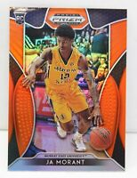 Ja Morant RC 2019-20 Panini Prizm Draft Picks Orange Prizm Rookie Card #65 Grizz