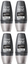 Pack of 4,  Dove Men Antiperspirant Deodorant INVISIBLE DRY Roll On 50ml