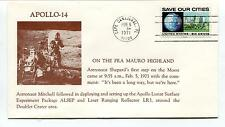 1971 Apollo 14 On the Fra Mauro Highland Shepard first step Moon Space Cover