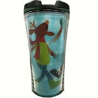 Merry Christmas Starbucks 2007 Holiday Reindeer 8oz Travel Tumbler Mug Cup w Lid
