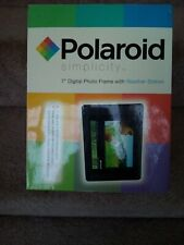 """POLAROID SIMPLICITY 7"""" Digital Picture Photo Frame & Weather Station - SEALED"""