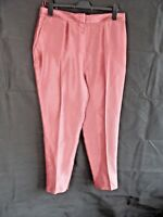 Next Dusky Pink Tailored Trousers Size 14 Long Shimmer Party Wedding Guest Night