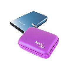 Purple Case For Verbatim GT HDD Hard Drive In Strong EVA With Storage Pocket