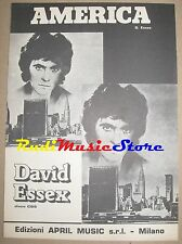 DAVID ESSEX america RARO SPARTITO SINGOLO no cd lp dvd mc