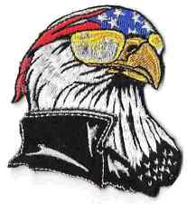 EAGLE - WITH US FLAG AND BANDANA - IRON-ON PATCH