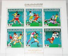 Libia libia 1985 bloque 99 S/s Soccer CS 1986 fútbol WM fútbol deporte mnh