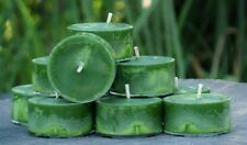 10pk 120hr/pack AZTEC CHERIMOYA FRUIT Scented PURE ORGANIC SOY TEA LIGHT CANDLES