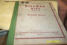 HILLMAN MINX Mk IV  Workshop Manual