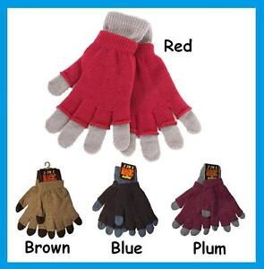 Ladies Magic 2 in 1 Full / Fingerless Gloves, 2 Pairs in 1  * FREE P&P *
