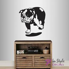 Wall Vinyl Decal English Bulldog Breed Dog Puppy Animal Pet Store Nursery 1627