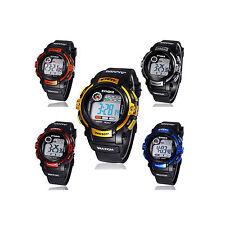 Digital LED Herrenuhr Licht Datum Uhr Armbanduhr Silikonband Schwarz Gold Blau