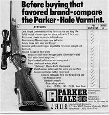 1974 small Print Ad of Jana Parker Hale Varmint Rifle compare chart