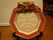 Fitz and Floyd Classics Father Noel Platter or Wall Hanging Fluer De Lis