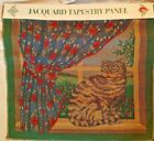"""CAT IN WINDOW OAKHURST TEXTILES JACQUARD TAPESTRY 18"""" COTTON PILLOW PANEL"""