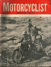 1961 May Motorcyclist - Vintage Motorcycle Magazine Back-Issue - HOLE DAMAGED