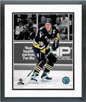 "Mario Lemieux Pittsburgh Penguins NHL Spotlight Photo (12.5"" x 15.5"") Framed"