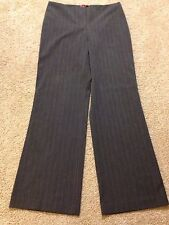Women's Tapemeasure Size 10 Gray Mid-Rise Dress Pants with Pink Stripe