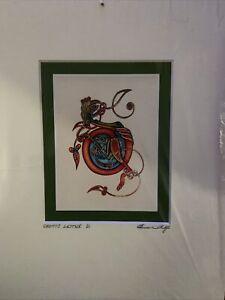 Illuminated Celtic Letter D Book Of Kells