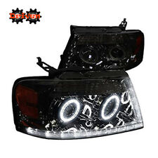 04-08 Ford F150 Harley Lighting Smoked Projector R8 L DRL LED Headlights Mark LT