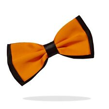 Men's Black & Orange Satin Bow Tie Pretied Party Formal  Bowtie Adjustable