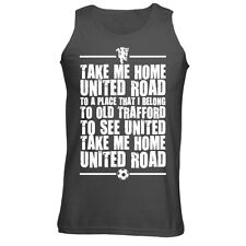 Mens United Road Old Trafford Manchester Football Chant Song Tank Top Vest NEW
