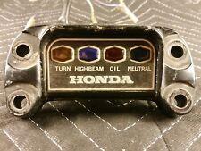 1974 Honda CB750K4 Four H1104-1+ Handlebar Top Clamp Indicator Light Panel #2
