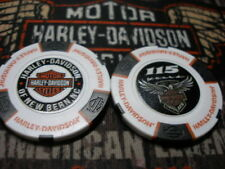 White Black & Orange 115th Anniversary Poker Chip New Bern Harley Davidson