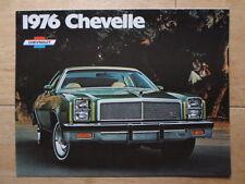 CHEVROLET Chevelle 1976 range USA Mkt brochure catalog Malibu Classic Laguna S-3