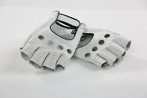Cicli-Franconi profi Fahrrad Handschuhe Haarschafleder weiß, retro cycle gloves