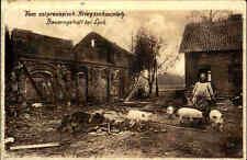 Ostpreußen 1916 LYCK Polen Bauernhof Schweine Bäuerin 1. Weltkrieg Wohlfahrt-AK