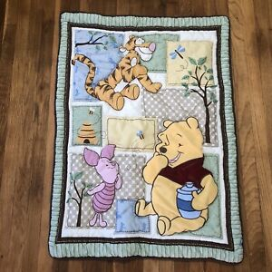 Disney WINNIE THE POOH Crib Blanket Quilt Tigger Piglet Baby Infant Bear Unisex